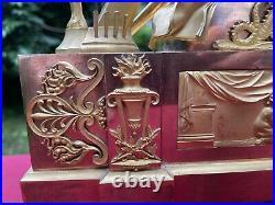 Grande Pendule Epoque Empire Horloge Clock 56 cm
