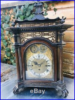 Grande Pendule Horloge Carillon 9 Cloches Bracket Clock Fusee Japonisant