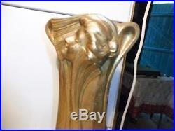 Grande garniture art nouveau regule peint en dore fonctionne sonne