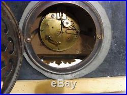 Grande pendule bronze deux patines et marbre fonctionne sonne