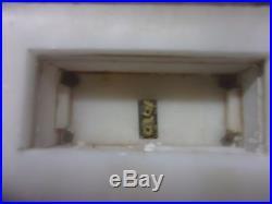 Grande pendule portique style empire albatre et bronze dore fonctionne sonne
