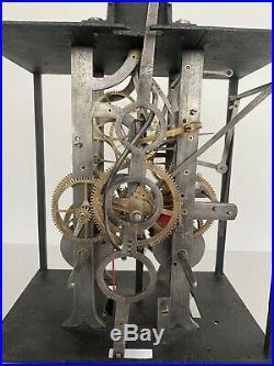 Grosse Horloge Comtoise Échappement À Chevilles Comtoise Uhr Speziell