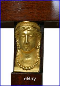 Guéridon. Kaminuhr Empire clock bronze horloge antique uhren cartel pendule