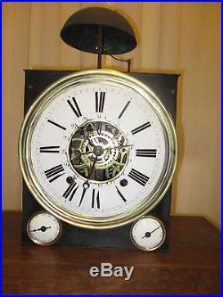 Horloge comtoise tres rare a 3 cadrans horloges pendules for Horloge murale 3 cadrans