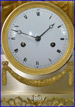 Hebe Diane. Kaminuhr Empire clock bronze horloge cartel uhren pendule