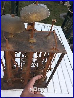 Horloge Comtoise 3 Cloches 3 Poids 19 Eme Carillon Pendule