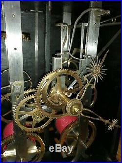 Horloge Comtoise Mensuel Ancienne, Empire échappement arrière UHR, reloj, clock