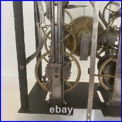Horloge Comtoise Spécial 2 Cloches Et Échappement À Chevilles Special Clock Uhr