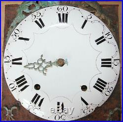 Horloge Comtoise XVIIIe Mouvement Coq Cadran Cuvette Mécanisme