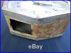 Horloge LEPAUTE ancienne octogonale pendule gare double face suspendu chaîne