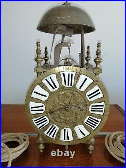 Horloge Lanterne Capucine Bronze Pendule Comtoise 18 Ème Clock Hold