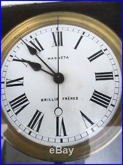 Horloge MAGNETA pendule électrique BRILLIE FRÈRES électric clock uhr art deco