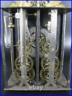 Horloge Mécanisme Comtoise Mouvement Mensuel XIX Balancier Poids Clef / Clock