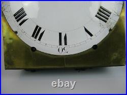 Horloge Mécanisme Comtoise Mouvement Mensuel XIX Echappement Arriere / Clock
