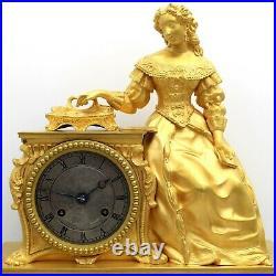 Horloge Pendule d'époque Charles X en Bronze doré du 19ème siècle