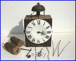 Horloge XVIII° siècle à une aiguille
