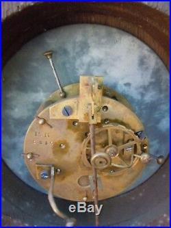 Horloge cartel pendule bois sculpte decor trophees chasse d'époque 19ème