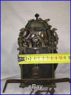 Horloge comtoise 18 éme mini lanterne +caisse D'horloge