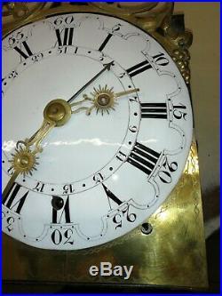 Horloge comtoise ancienne, 4 cloches, UHR, orologio, reloj, clock
