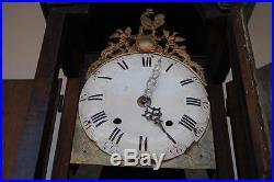 Horloge comtoise caisse en noyer époque XVIIIème