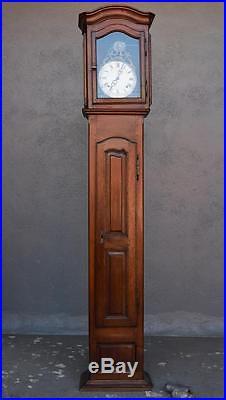 Horloge comtoise en noyer d'époque XVIIIème