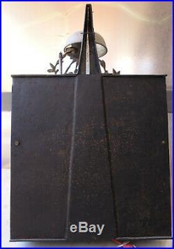 Horloge comtoise fin XVIII au coq, échappement inversé, état de marche