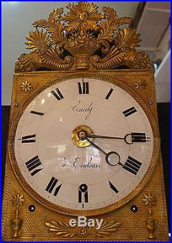Horloge comtoise sonnerie à quarts 3 cloches réveil