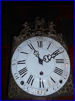 Horloge comtoise trois cloches 18 ieme