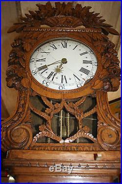 horloge de parquet normande dite demoiselle horloges pendules. Black Bedroom Furniture Sets. Home Design Ideas