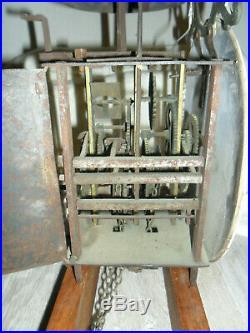 Horloge, lanterne XVIII éme avec automate Normande, pendule, mouvement, comtoise