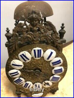 Horloge lanterne miniature comtoise chiffre bleu XVIIIe