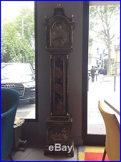 Horloge laquée mouvement allemand coffre japonais