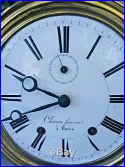 Horloge pendule Comtoise Chavin Morez a plusieurs Cloches
