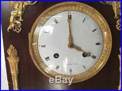 Horloge pendule Empire retour dEgypte suspension à fil