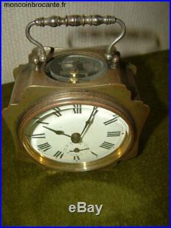 Horloge, pendule, reveil, de voyage Japy ancien