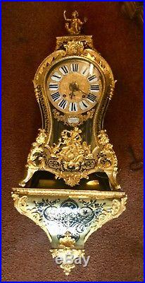 IMPORTANTE PENDULE CARTEL LXV LE FAUCHEUR 1750 BOULLE CONSOLE avec REVEIL