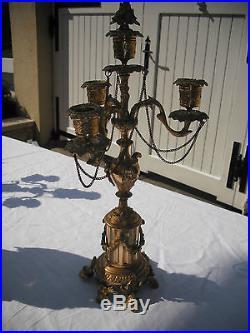 Importante Garniture Pendule Louis XVI XIXème Bronze doré F Duval Franjus Raison