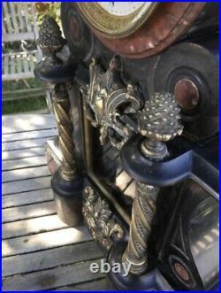 Imposante Pendule de Notaire Napoléon III Marbre, Bronzes par LEFRANC à Essonnes
