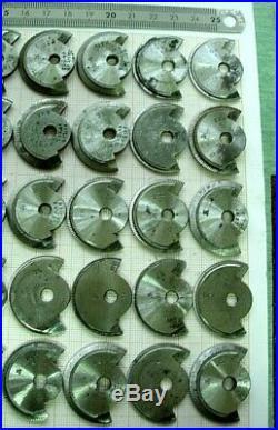 Lot Set 50 fraises pour machine arrondir tour Carpano watchmakers wheel cutter 3