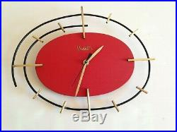 MAGNIFIQUE et originale Horloge pendule ORTF VEDETTE VINTAGE 50 60's 70's