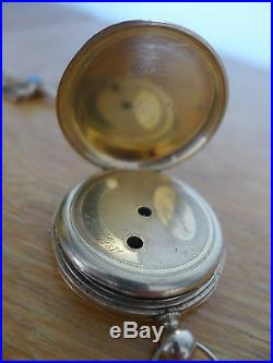 MONTRE ANCIENNE A GOUSSET EN OR 18K Poinçon tete d aigle 1871 + CHAINE
