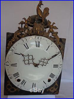 Mouvement D'horloge Comtoise Pendule Coq 18 Eme