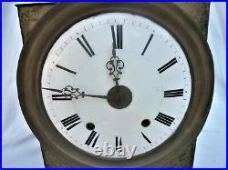 MOUVEMENT HORLOGE COMTOISE PENDULE 3 CLOCHES 4 MARTEAUX OLD CLOCK PENDULUM 19th