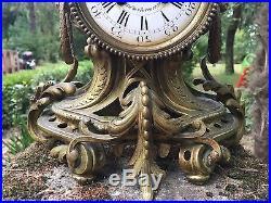 Mage à Paris Pendule Époque XVIII Bronze Bélier Louis XV Rocaille French Clock