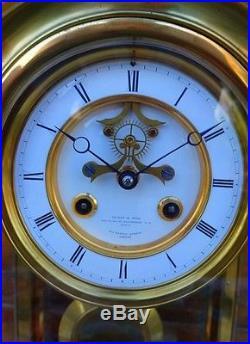 Magnifique et rare Régulateur pendule cage Leroy et Fils Palais Royal