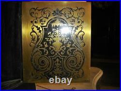 Magnifique grand cartel Boulle Noir De Style Louis 15 d'époque 19 Eme