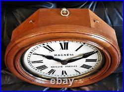 Magnifique horloge électrique MAGNETA BRILLIE de 1910! Wall clock no ato, lepa