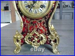 Magnifique pendule ancienne cartel style BOULLE fin 19éme, fonctionne
