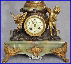 Majestueuse Pendule Horloge Brise de Mer par A. Moreau Art-Nouveau Fin XIXème