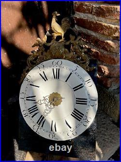 Mecanisme Mouvement Horloge Comtoise 30 Jours 1780 Complet Balancier Et Poids